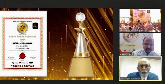 Sri City bags prestigious 'Asian CFO Leadership Award