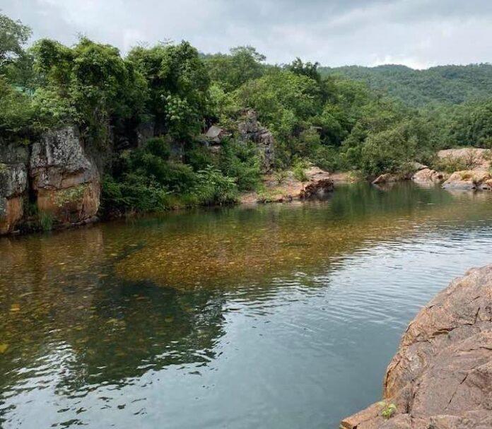 a beautiful natural stream