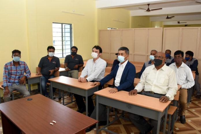 Sri City based IMOP company donates spacious multipurpose hall