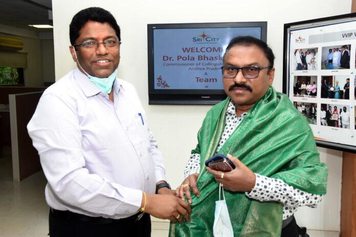 Senior IAS officers visited Sri City